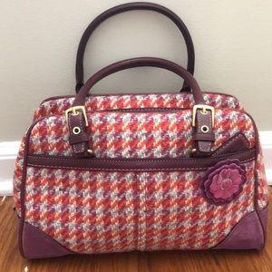 Coach Plaid and purple handbag